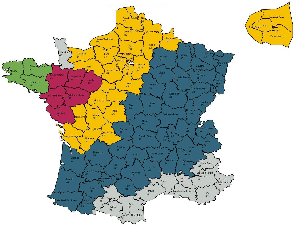 Carte de France livraisons